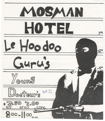 Hoodoo Gurus poster from the brilliant website 1980schild.blogspot.com.au