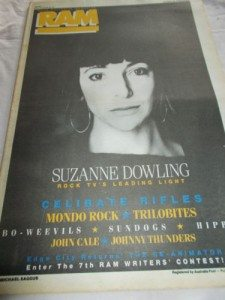Rockarena host Suzanne Dowling on the cover of RAM.