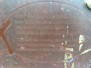 PLAQUE DEMOLISHED 2001