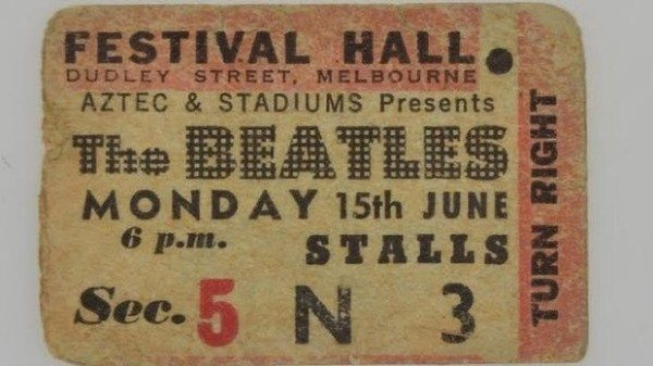 The Beatles at Festival Hall, Melbourne.