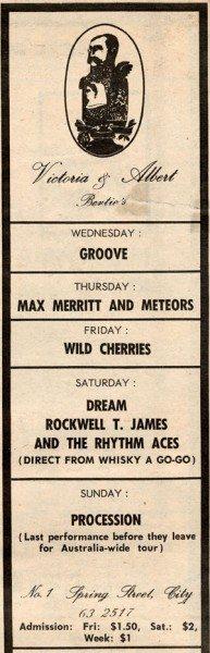 Michael Browning's Bertie's in 1968.