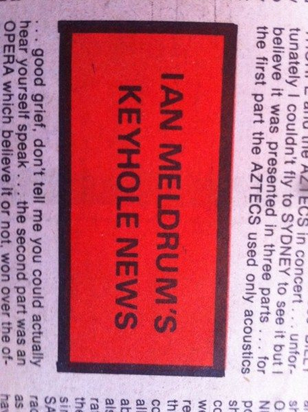 Ian Meldrum's Keyhole News