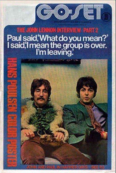 The Beatles break up in Go-Set.