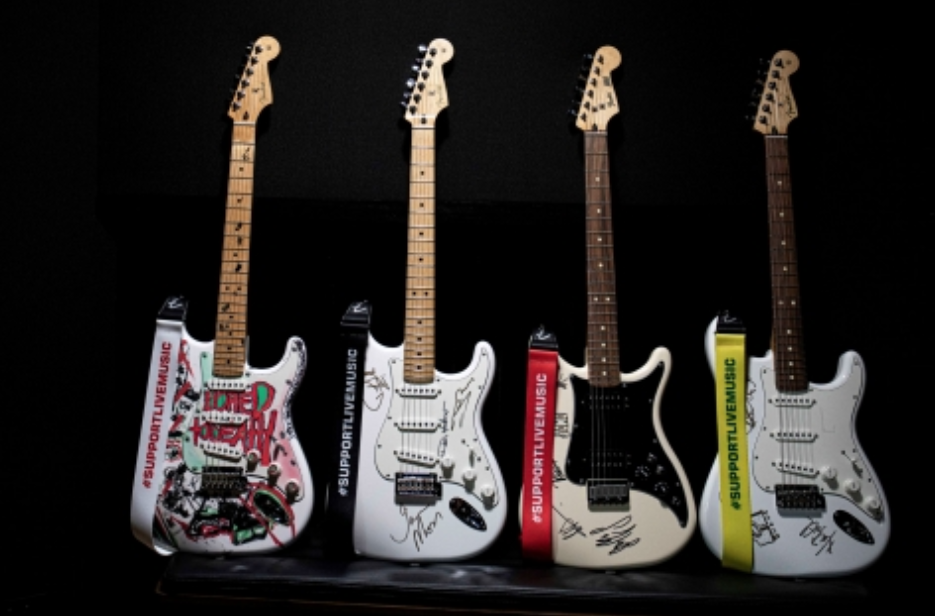 Four Fender guitars to be won in Support Act raffle